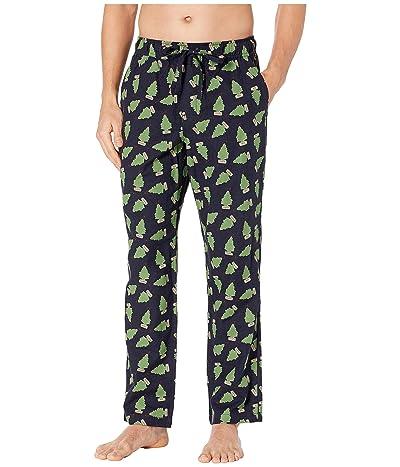 J.Crew Flannel Lounge Tree Decoration Pants (Tree Decoration Green/Navy) Men