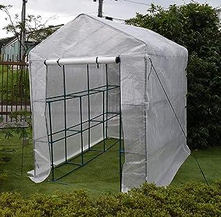 園芸用菜園ハウス 大 長さ214×幅143×高さ195cm 菜園ビニールハウス 温室ビニールハウス...