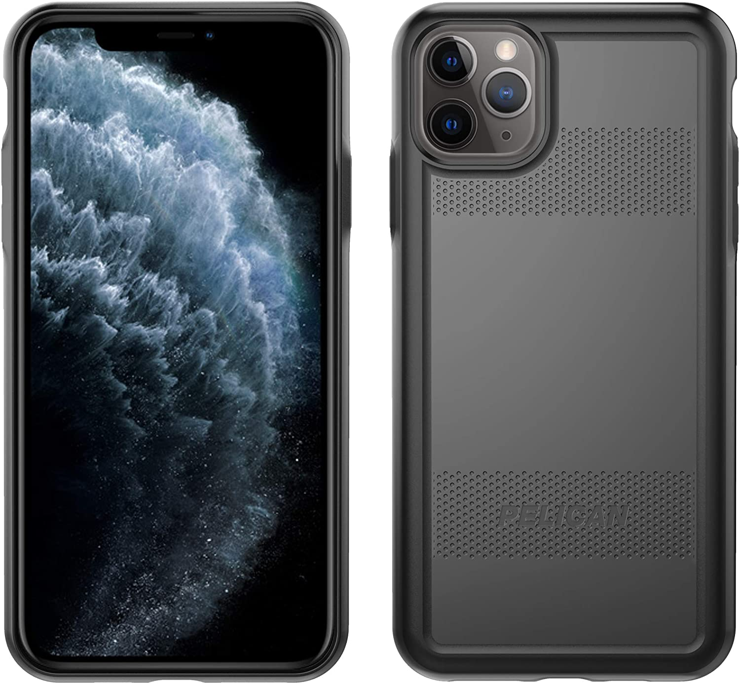 Pelican iPhone 11 Pro Max Case, Protector Series – Military Grade Drop Tested, TPU, Polycarbonate Protective Case for Apple iPhone 11 Pro Max (Black)