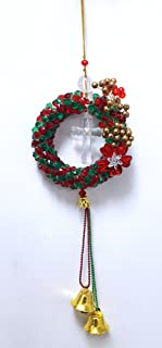AmberRoze Plastic Red and Green Christmas Wreath
