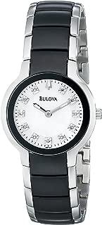 Women's 98P127 Diamond Black & Silver Ion-Plated Watch