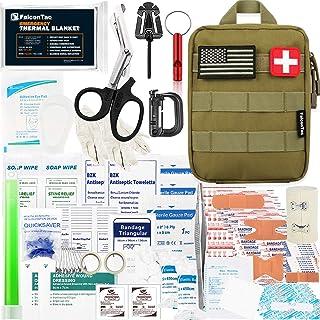 جعبه سازگار Falcon Medi-Tac 200 قطعه کیف کمک اولیه IFAK Survival Kit Molle ، هدیه کیت اضطراری برای آقایان ، پدر ، شوهر ، در فضای باز ، کمپینگ ، شکار ، پیاده روی ، خانه ، زلزله ، بلایا