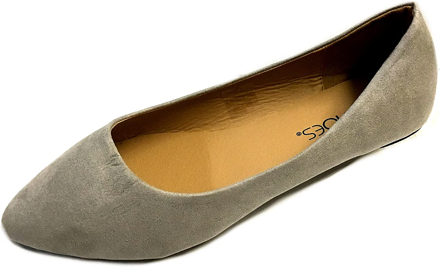 shoes 18 Womens Pointy Toe Ballet Flats 8800 Grey Micro 5 6