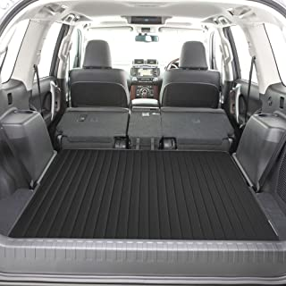 """FH Group F16500 Deluxe Heavy-Duty Faux Leather Multi-Purpose Cargo Liner, Striped, 46"""" : 40"""" x 46"""", Black Color- Fit Most Car, Truck, SUV, or Van"""