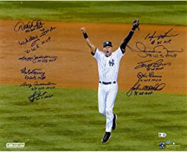 MLB New York Yankees World Series MVP Multi-Signed & Inscribed Derek Jeter 16x20 Photo