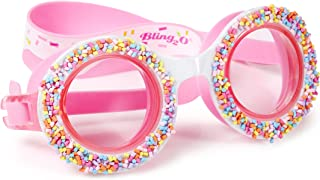 Kids Swim Goggles by Bling2O - Summer Shaved Ice Design - Round Anti Fog Goggles with Hard Case