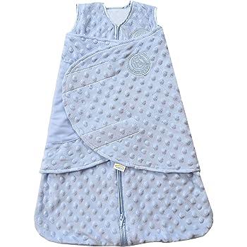 Halo Plush Dot Velboa Sleepsack Swaddle Wearable Blanket, Blue, Newborn