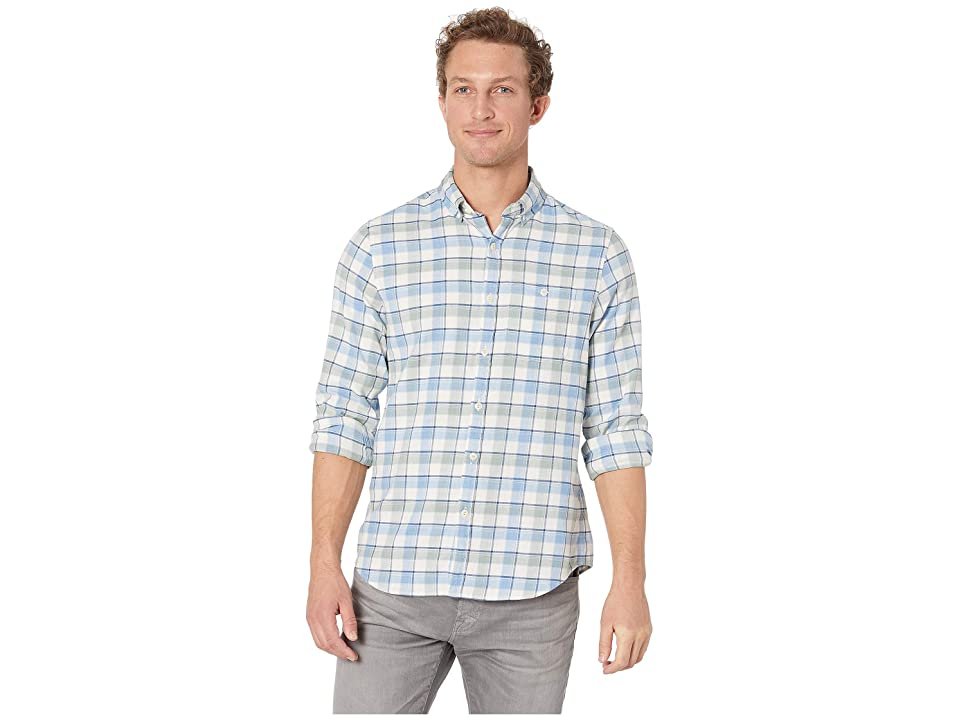 Vineyard Vines Amberjack Plaid Slim Longshore Shirt (Light Sage) Men
