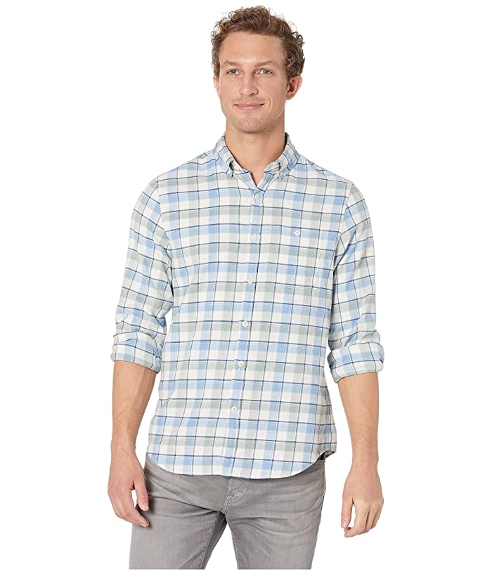 Vineyard Vines Amberjack Plaid Slim Longshore Shirt (Light Sage) Men