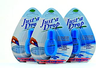 Just A Drop Toilet Personal Odor Reducer and Neutralizer - 6 Ml 3 Pack travel size,Blue