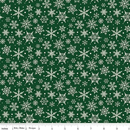 Tan Colors Vintage Children/'s Christmas Flannel Cotton Fabric Reindeer and Snowflakes Pattern; Blue 1 12 Yards 54 x 4445