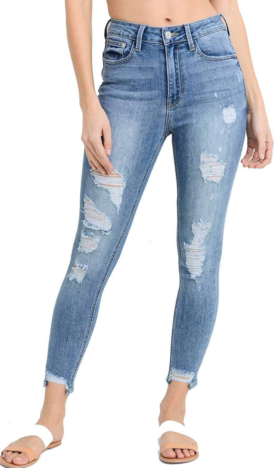 Just USA Jeans Women's High Rise Basic Skinny Denim Pants