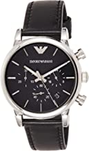 Emporio Armani Men's AR1733 Dress Black Leather Watch