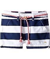 Tommy Hilfiger Kids - Rugby Stripe Shorts with Rope Belt (Little Kids/Big Kids)
