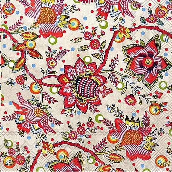Boston International Ihr Bronson Pinchot Designs Floral Guest Towel Buffet Paper Napkins Addie Kitchen Dining Amazon Com