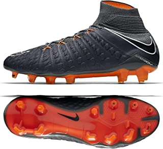 c6d78f447 Nike Hypervenom Phantom III Elite DF FG AH7270-081 Grey Orange Men s Soccer  Cleats
