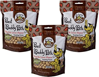 Exclusively Pet 3 Pack of Best Buddy Bits Beef and Liver Flavor Training Treats for Dogs, 5.5 Ounces Per Pack