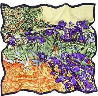 prettystern Foulard di seta con stampa Impressionismo Vincent van Gogh 90cm Quadrato Fantasie diverse