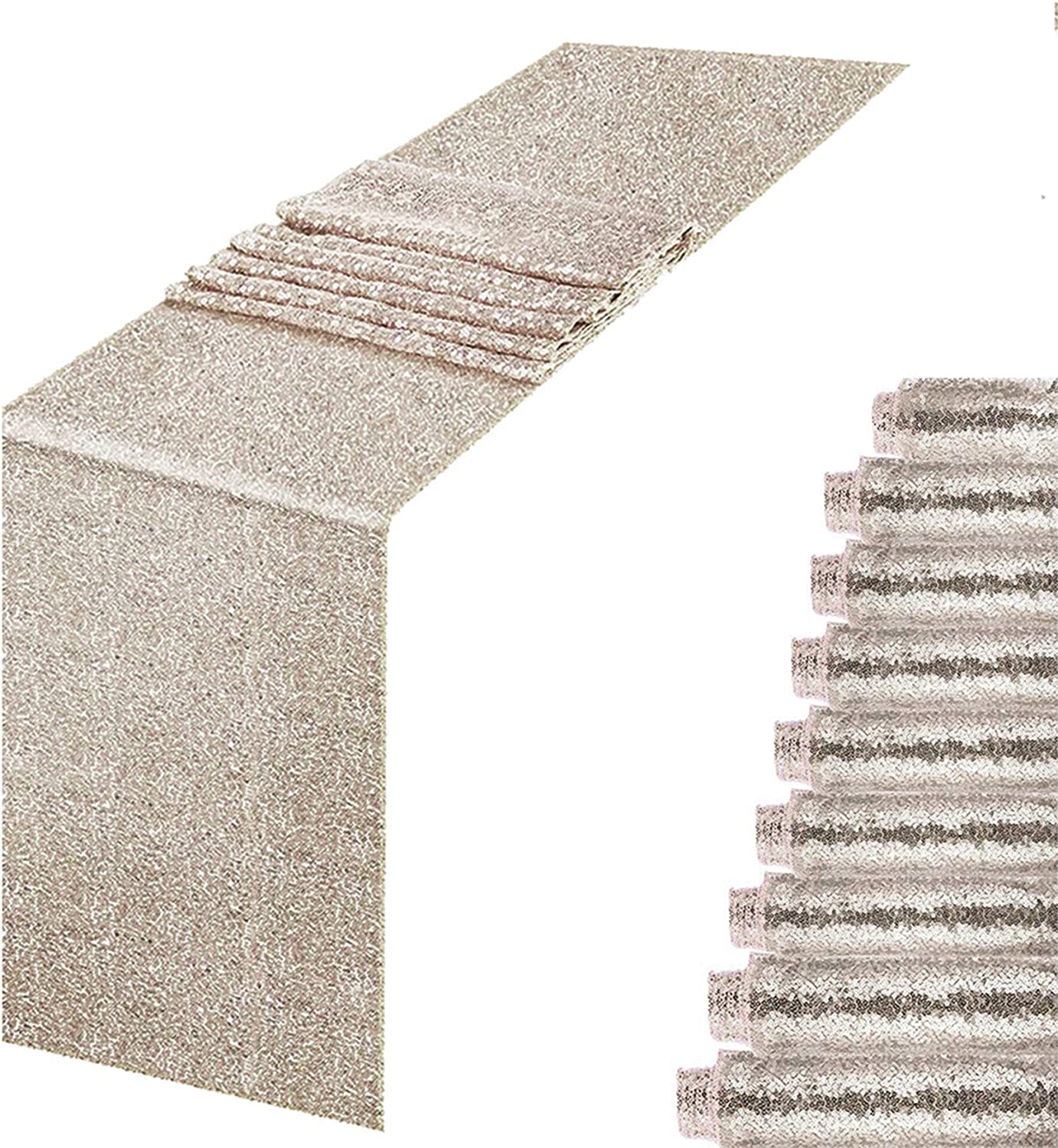 MENGQ Champagne Sequin Table Runner gift 10 Super popular specialty store of Sparkle Pack 12