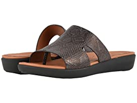 b89a17c33343 FitFlop H-Bar Slide Sandals - Latticed Leather at 6pm
