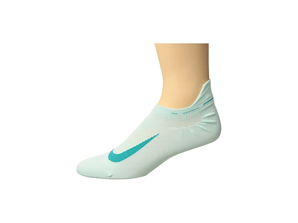 Nike Elite Running Lightweight No Show (Igloo/Turbo Green) No Show Socks Shoes