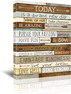 Inspirational Wall Art for Office Quotes Theme Wall Decor for Women Motivational Canvas Prints...