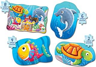 The Learning Journey My First 4-In-A-Box Puzzle – Ocean – Educational Toddler Toys & Gifts for Boys & Girls Ages 2 & Up