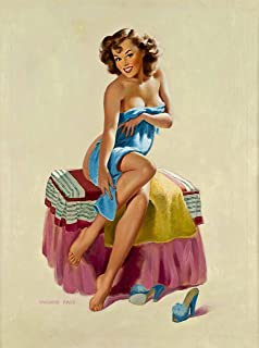A SLICE IN TIME 1940s Pin-Up Girl Sugar & Spice Towel Girl Picture Poster Print Art Vintage Pin Up. Poster Measures 10 x 13.5 inches