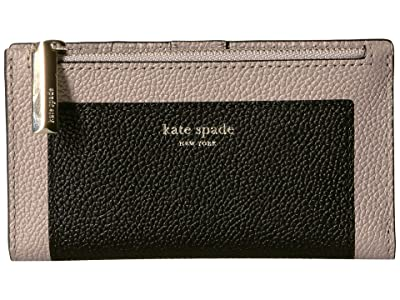 Kate Spade New York Margaux Small Slim Bifold Wallet (Black/Warm Taupe) Bi-fold Wallet