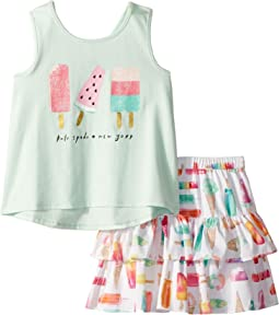 Kate Spade New York Kids Summer Treats Skirt Set (Toddler/Little Kids)
