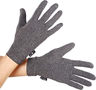 Brace Master Compression Arthritis Gloves One Pair Full-Finger Support and Warmth for Hands, Finger Joint, Relieve Pain from RSI, Carpal Tunnel for Women and Men (Medium, Gray 1 Pair)