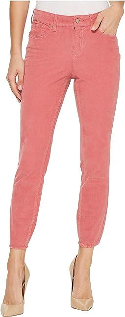 Alina Ankle Corduroy Pants w/ Fray Hem