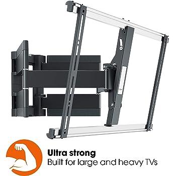 Vogels Thin 550, Ultra fuerte soporte de Pared para TV muy grande (102-254 cm, 40-100 Pulgadas) y mayor peso (máx. 70 kg), Inclinable y Giratorio 120º, Sistema VESA máx. 600x400 mm, negro: