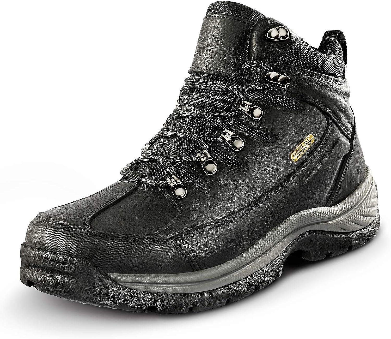 service NORTIV 8 Men's Leather Waterproof Trekkin 1 year warranty Ankle Boots Mid Hiking