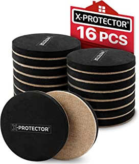 Felt Furniture Sliders Hardwood Floors X-PROTECTOR 16 PCS - Furniture Slider – Heavy Duty Felt Sliders Hard Surfaces - Move Your Furniture Easy & Safely!