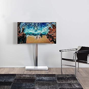 Accord acc2700 W Suelo Soporte de TV con Giratorio y gestión de Cables – Blanco/Plata: Amazon.es: Electrónica