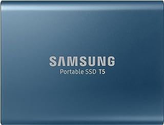 Samsung T5 500GB USB 3.1 Gen 2 (10Gbps, Type-C) External Solid State Drive (Portable SSD),Alluring Blue,MU-PA500B/WW