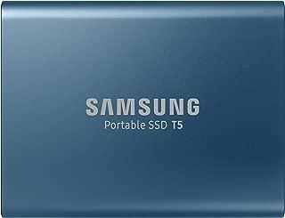 Samsung Samsung T5 500GB USB 3.1 Gen 2 (10Gbps, Type-C) External Solid State Drive (Portable SSD) Alluring Blue (MU-PA500B),Alluring Blue,500GB,MU-PA500B/WW