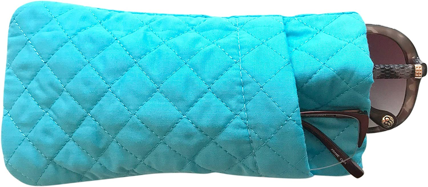 Double Eyeglass Case, Quilted Cotton Soft and Slim, by Buti-Eyes