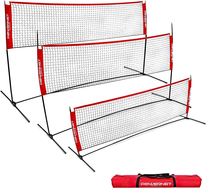 PowerNet Portable Badminton Tennis Volleyball Pickleball Net Award-winning unisex store