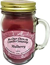 Our Own Candle Company Mulberry Scented 13 Ounce Mason Jar Candle