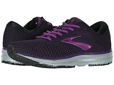 Brooks Revel 2 (Black/Purple/Grey) Women