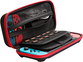 Leandro Switch Case EVA Hard Shell Portable Travel Bag for Nintendo Switch, Storage 20 Game Cartridges, Power Bank and Two Extra Joy Cons