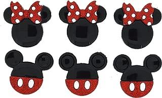 Dress It Up 7718 Disney Button Embellishments, Mickey and Minnie Glitter
