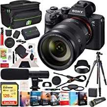$3397 » Sony ILCE-7M3 a7 III Full Frame Mirrorless Interchangeable Lens 4K HDR Camera Bundle with FE 24-105mm F4 G OSS Zoom Lens, Microphone, 128GB Card, Deco Gear Camera Bag with Accessories (13 Items)
