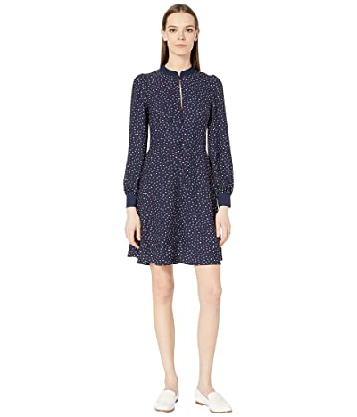 Kate Spade New York Lips Crepe Dress (Parisian Navy) Women