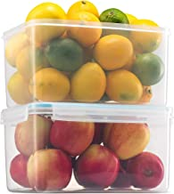 Komax Biokips Large Food Storage Container 155oz. (set of 2) - Airtight, Leakproof With Locking Lids - BPA Free Plastic - ...