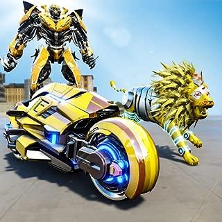 Lion Robot Bike Transforming: Tiger Robot