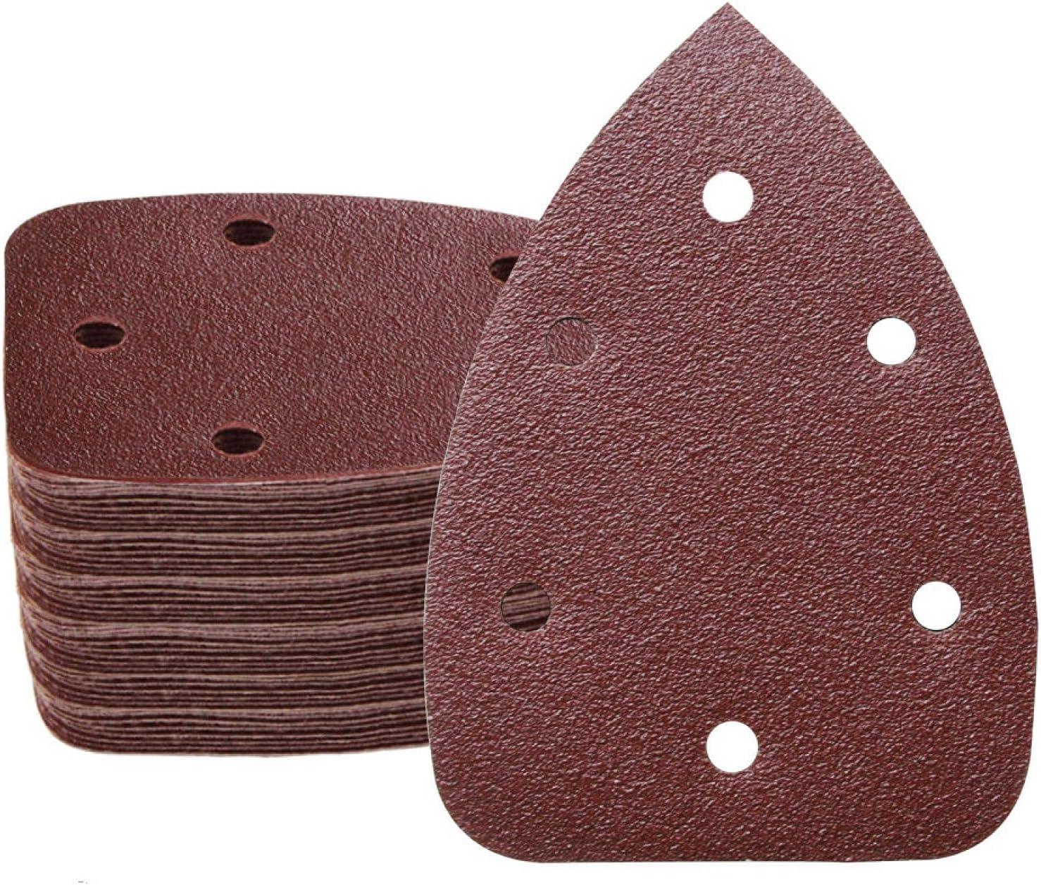 100pcs Now on sale 140x100mm Detail Sale price Sander Sandpaper Hole Deta Hook Loop 6
