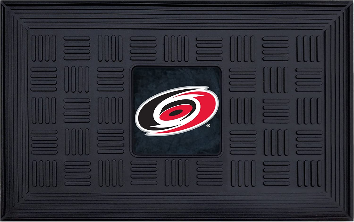 Fanmats 11481 NHL Carolina Hurricanes Vinyl Medallion Door Mat